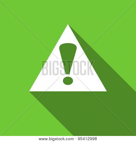 exclamation sign flat icon warning sign alert symbol original modern design flat icon for web and mobile app with long shadow