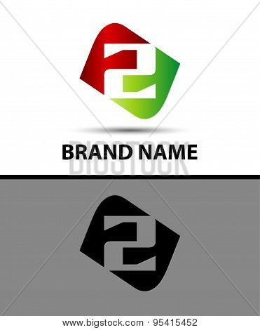 Number 2 logo. Number logo design.Number two logo.Logo 2 vector template