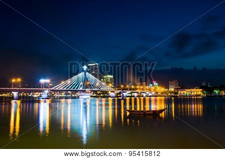 Danang city at night