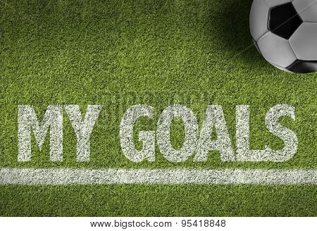 Soccer field with the text: My Goals