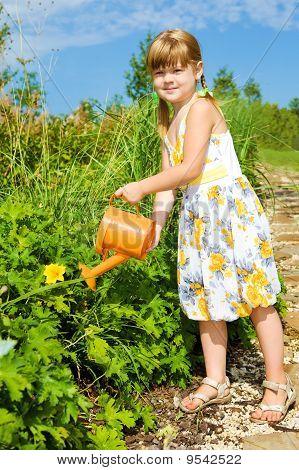 Girl Watering