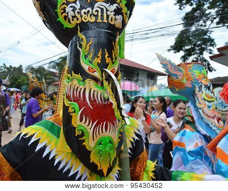Phi Ta Khon is a type of masked procession celebrated in Thailand