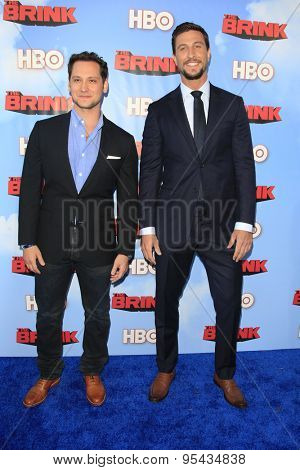 LOS ANGELES - JUN 8: Matt McGorry, Pablo Schreiber at the Premiere of HBO's 'The Brink' at the Paramount Theater at Paramount Studios on June 8, 2015 in Los Angeles, CA
