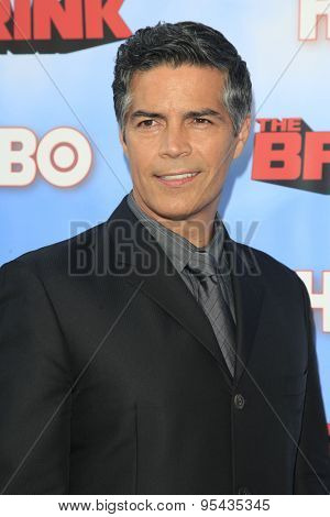 LOS ANGELES - JUN 8: Esai Morales at the Premiere of HBO's 'The Brink' at the Paramount Theater at Paramount Studios on June 8, 2015 in Los Angeles, CA