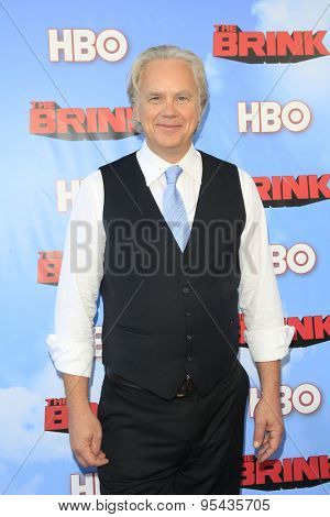 LOS ANGELES - JUN 8: Tim Robbins at the Premiere of HBO's 'The Brink' at the Paramount Theater at Paramount Studios on June 8, 2015 in Los Angeles, CA