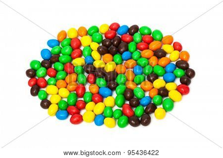 beautiful candy on a white background