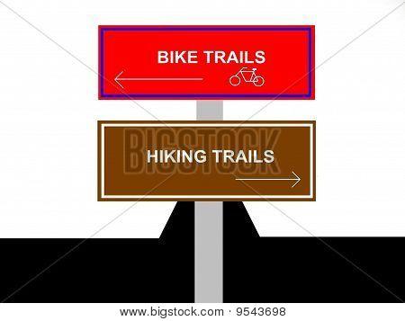 Bike and Hiking Trails Sign