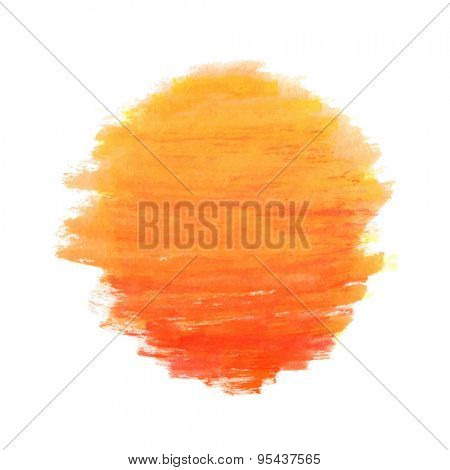 watercolor sun isolated on white background