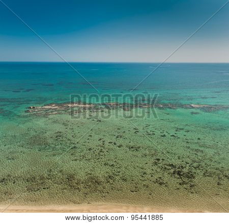 Aerial view of Mediterranean Sea from Cyprus