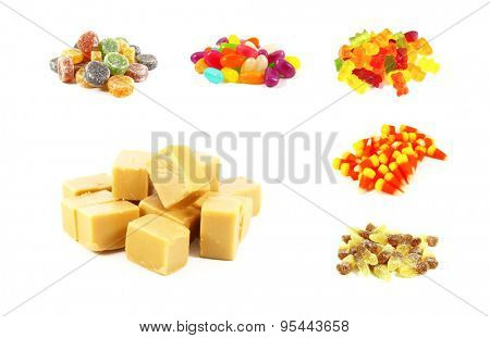 Candy Collection of Gummies, Jellies and Other Candies