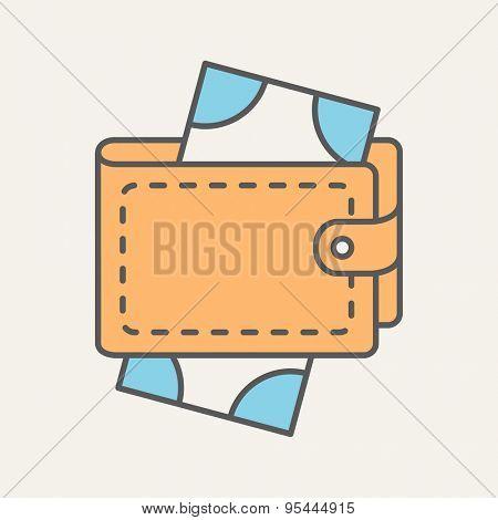 Wallet Flat Web Icon