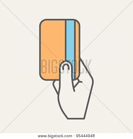 ATM Flat Web Icon