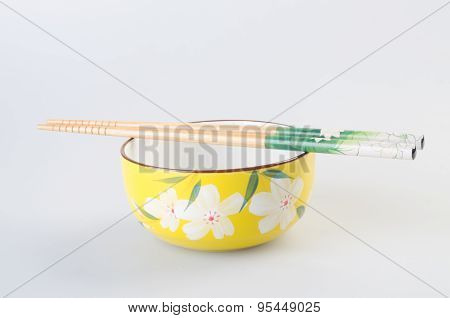 Bowl. Chinese Bowl Set. Chinese Bowl Set On The Background