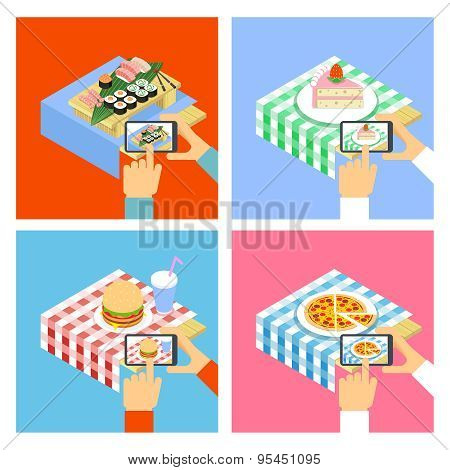 Photo of food with smartphone
