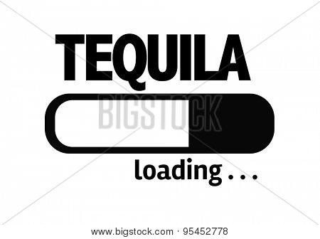 Progress Bar Loading with the text: Tequila