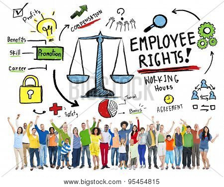 Employee Rights Employment Equality Job People Success Concept