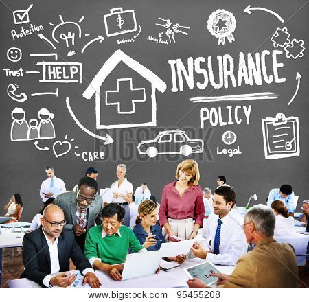 Insurance Policy Help Legal Care Trust Protection Protection Concept