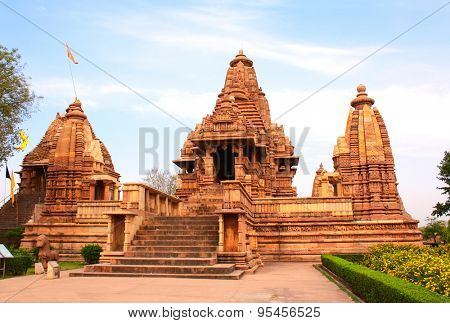 Lakshmana temple, built by Chandela Rajputs, is situated in the Western Group of temples, Khajuraho, Madhya Pradesh, India. Unesco World Heritage Site