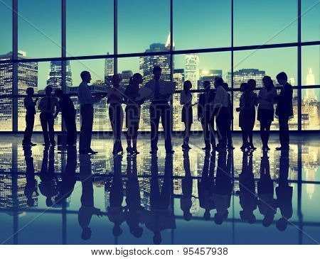 Business People Interaction Conversation Team Working Together Concept