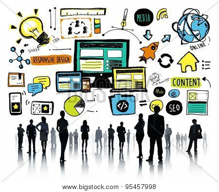 Business People Responsive Design Content Idea Team Concept