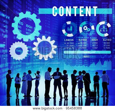 Content Marketing Networking Publication Sharing Concept