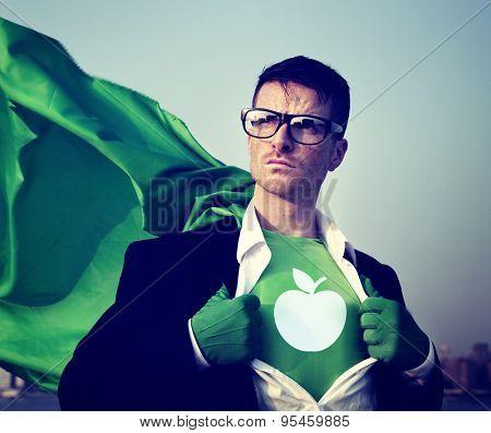 Education Strong Superhero Success Professional Empowerment Stock Concept