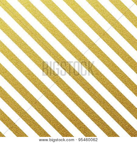 Gold glittering seamless lines pattern on white background.