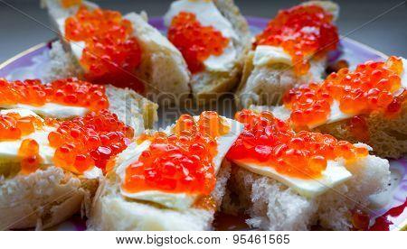 Caviar closeup.