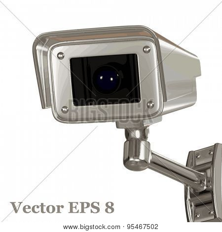 Surveillance security camera, vector eps 8.