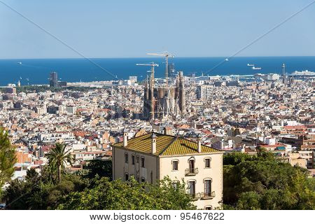 Barcelona, view to the City