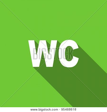 toilet flat icon wc sign original modern design flat icon for web and mobile app with long shadow