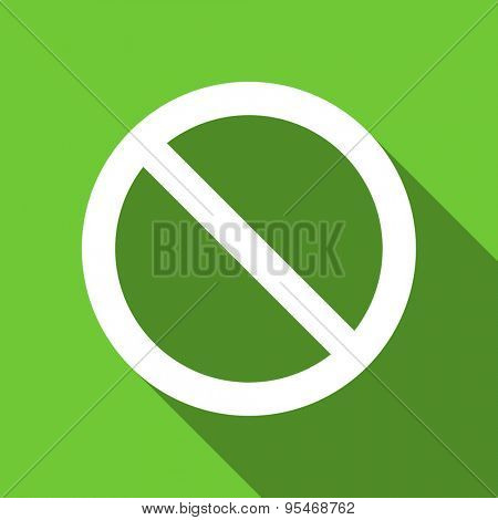 access denied flat icon  original modern design flat icon for web and mobile app with long shadow