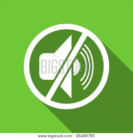 mute flat icon silence sign original modern design flat icon for web and mobile app with long shadow