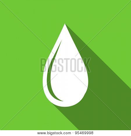 water drop flat icon  original modern design flat icon for web and mobile app with long shadow