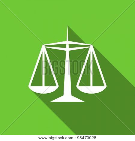 justice flat icon law sign original modern design flat icon for web and mobile app with long shadow