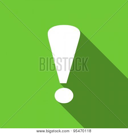 exclamation sign flat icon warning sign original modern design flat icon for web and mobile app with long shadow