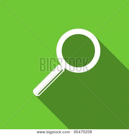 search flat icon  original modern design flat icon for web and mobile app with long shadow