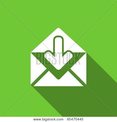email flat icon post message sign original modern design flat icon for web and mobile app with long shadow