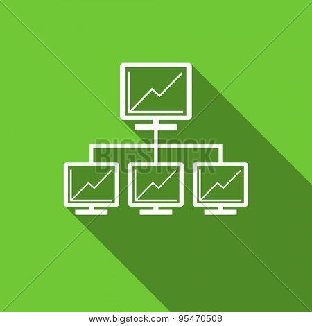network flat icon lan sign original modern design flat icon for web and mobile app with long shadow