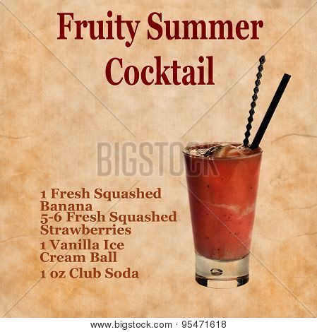 Fruity Summer Cocktail Recipe