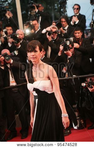 Cannes, France - May 16, 2015: Sophie Marceau attends the Premiere of 'The Sea Of Trees' during the 68th annual Cannes Film Festival on May 16, 2015 in Cannes, France.