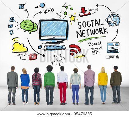 Social Network Social Media Diversity Group People Concept