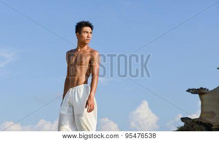 young Man muscular man -sport model