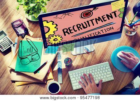 Recruitment Qualification Mission Application Employment Hiring Concept