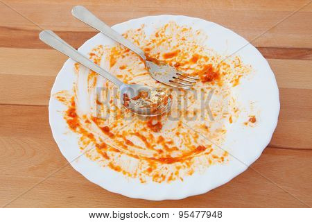 Tomato spotted plate. I finished the meal