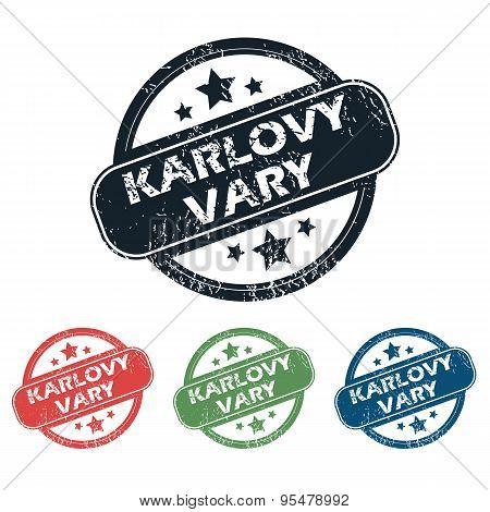 Round Karlovy Vary stamp set