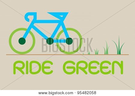 Ride Green Vector Illustration