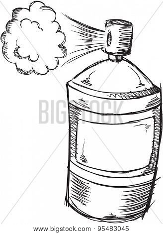 Doodle Spray Can Vector Illustration Art