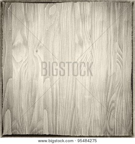 light wood panels with dark borders.