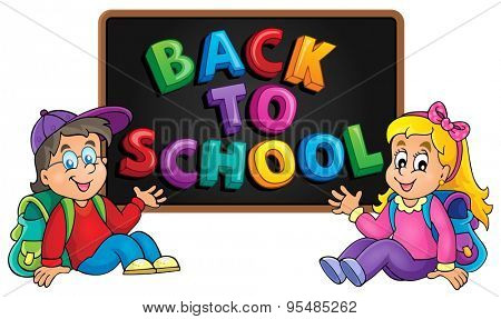 Back to school thematic image 8 - eps10 vector illustration.